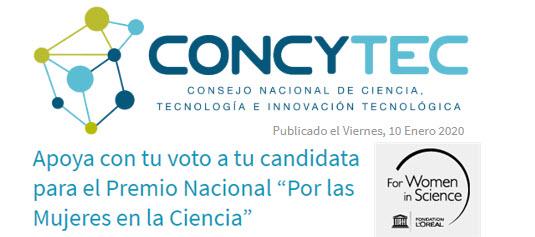 """Del 10 al 31 de enero 2020: Elige a dos finalistas del Premio Nacional """"Por las Mujeres en la Ciencia"""""""