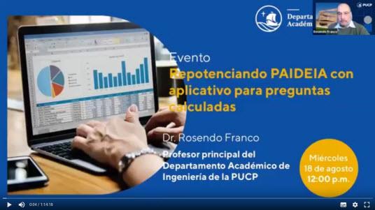 Un aplicativo para preguntas calculadas desarrollado en Ingeniería PUCP - Video de la Charla, guía de uso y aplicativo Excel