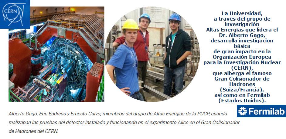 El origen de todo: la PUCP en los laboratorios de física de partículas más importantes del mundo