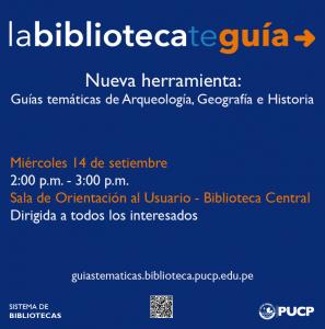 Presentación Guías Temáticas de las especialidades de Historia, Arqueología y Geografía