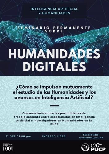 Seminario Permanente sobre Humanidades Digitales. Inteligencia Artificial y Humanidades