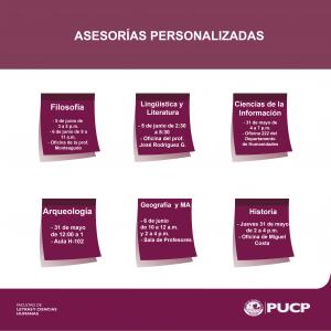 Asesorías personalizadas 2018-1
