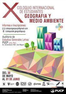 X Coloquio Internacional de Estudiantes de Geografía y Medio Ambiente