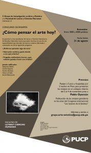 CONCURSO DE ENSAYO: ¿CÓMO PENSAR EL ARTE HOY?