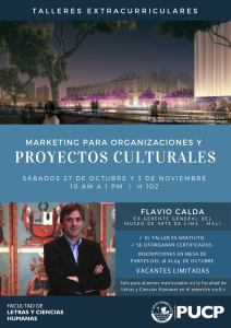 Taller | Marketing para Organizaciones y Proyectos Culturales