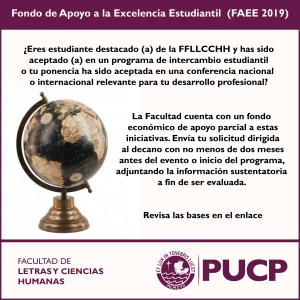 Fondo de Apoyo a la Excelencia Estudiantil (FAEE 2019)