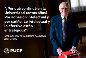 José Agustín de la Puente Candamo (1922-2020)