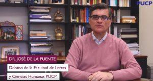 Carta del decano, Dr. José de la Puente, dirigida a las y los estudiantes de nuestra facultad