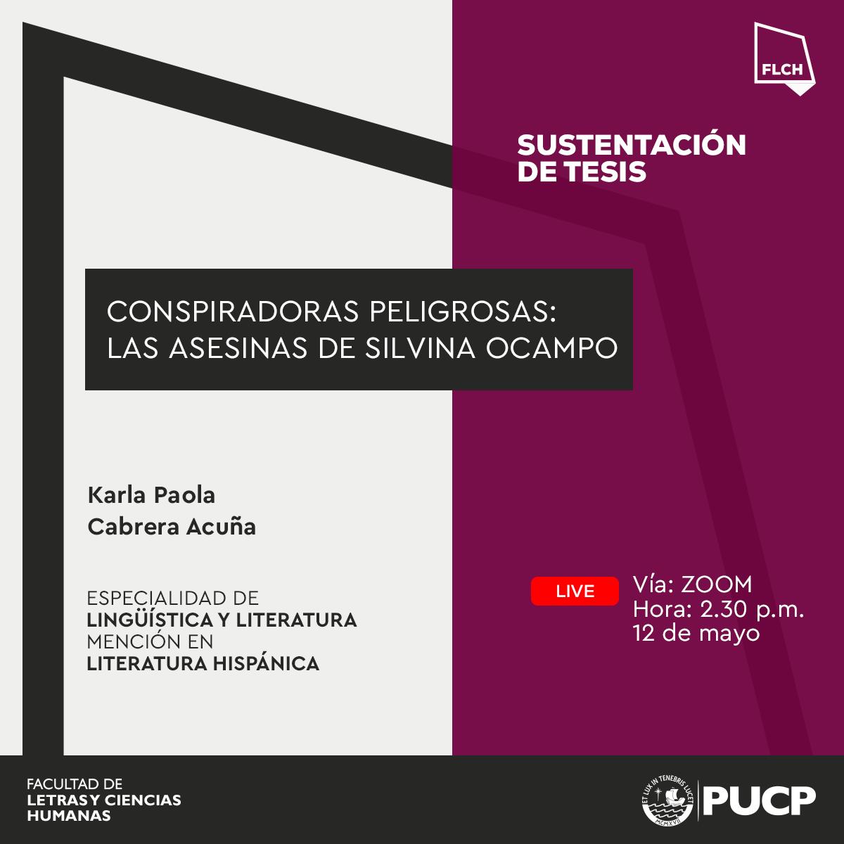 Sustentación de tesis | Karla Paola Cabrera Acuña