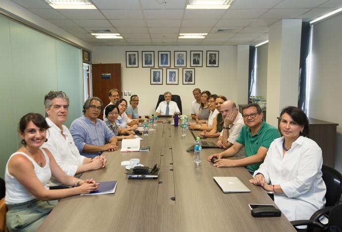 Rector pro tempore y directora de la DAP sostuvieron reunión con los jefes de departamento de la PUCP