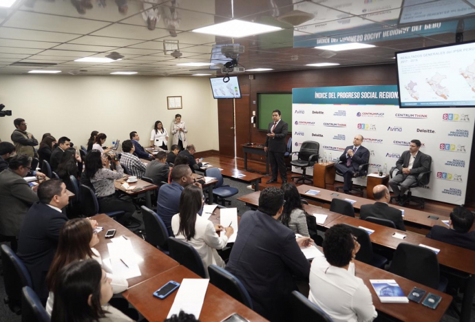 Moquegua lidera el Índice del Progreso Social  Regional que presentó hoy CENTRUM PUCP