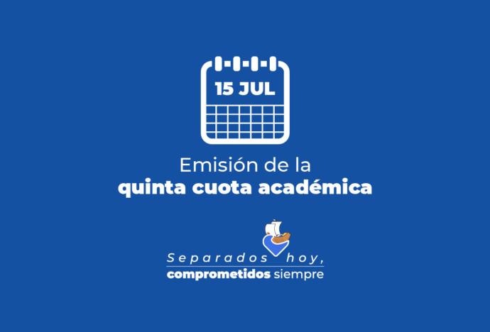 Emisión de la quinta cuota académica 2020-1