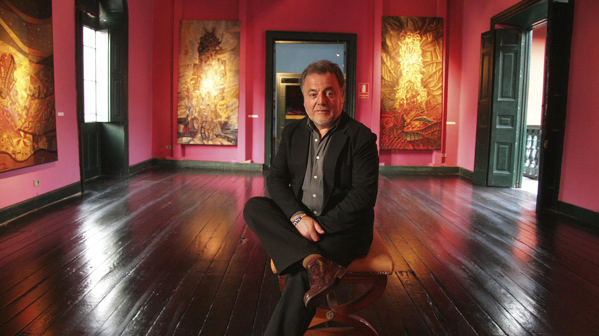 Luis Repetto en un salón del IRA